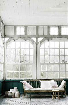 Bare room, open windows, lots of light. Space to meditate and a space for parties (just hang some twinkly lights). Ideally opening out into acres of nature :)