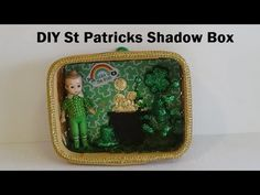 DIY St Patricks Day Shadow Box Shadow Box, St Patricks Day, Irish, Lunch Box, Make It Yourself, Facebook, Twitter, Crafts, Diy