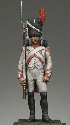 Granatiere del 3 rgt. olandese della guardia imperiale francese