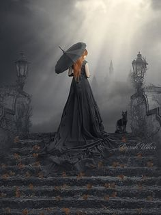 "gino-sayaski: ""Dark Photo Manipulations by Burak Ulker « Cruzine "" Fantasy Magic, Gothic Fantasy Art, Arte Black, Portrait, Arte Obscura, New Wave, Under My Umbrella, Goth Art, Dark Gothic"