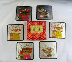 SALE Vintage Japanese Asahi Coasters Mint in Box