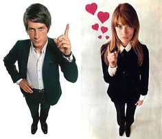 Jacques Dutronc and Francoise Hardy