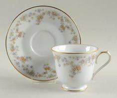 Footed Cup & Saucer Set in Benita by Noritake