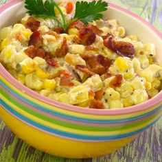 "Slow Cooker Creamed Corn with Onion and Chives I ""This was delicious. Corn is the only vegetable my family will eat so what a treat to have a variation! A keeper."""