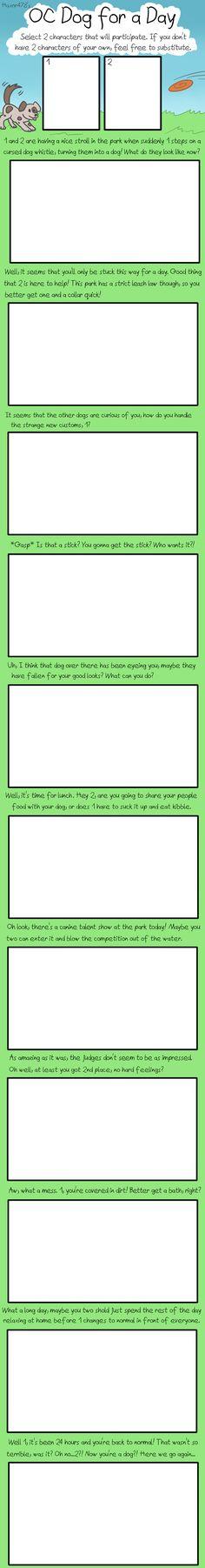 OC Dog for a Day: Blank Meme by haxor478.deviantart.com on @DeviantArt