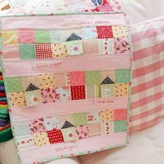 mouse house doll quilt by EmilyAnnsKloset on Etsy