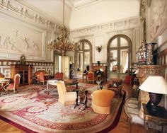 Decorators to Know: Maison Jansen | 1stdibs -- A sitting room in the Chateau de Laeken.