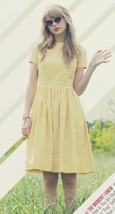 Taylor has a fancy for the vintage clothing... I totally love it.