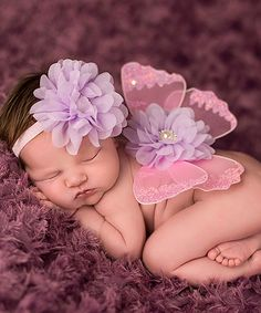 Look what I found on #zulily! Pink & Lavender Headband & Wing Set by The Tiny Blessings Boutique #zulilyfinds