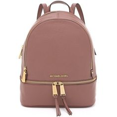 Amazon.com | MICHAEL Michael Kors Women's Small Rhea Backpack |... found on Polyvore featuring bags, backpacks, brown bag, backpack bags, daypack bag, rucksack bags and day pack backpack