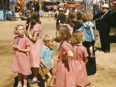 Rare color photos from 1930s-40s - can you even imagine, going to the county fair in a black suit and a fedora?