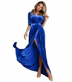 986744826ba9 ΒΕΛΟΥΔΙΝΟ ΜΑΞΙ ΦΟΡΕΜΑ ΚΡΟΥΑΖΕ - Βραδινα φορέματα βελούδο