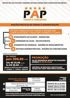 VENHA VER NOTICIAS : PROJETO AVANÇO PROFISSIONAL VOLTA A SÃO MIGUEL COM...