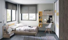 Love the desk idea Small Bedroom Designs, Modern Bedroom Design, Small Room Bedroom, Bedroom Decor, Apartment Interior, Apartment Design, Room Interior, Interior Design Living Room, Minimalist Bedroom