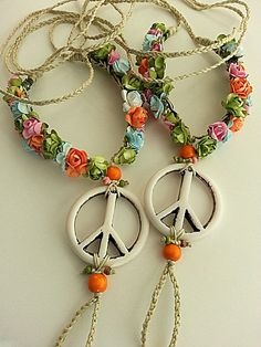 Wedding barefoot sandals Hippie sandals Peace Boho anklet by FiArt