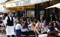 I've always wanted to go to France! I'd love to sit at an outside cafe while sipping a nice cup of coffee and meeting new people. Saint Germain, Local Bistro, French Clock, Honeymoon Spots, Outdoor Cafe, French Cafe, Europe, Paris Cafe, Fun Cup