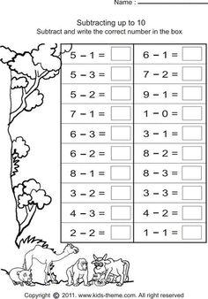 Simple Subtraction Worksheets for Kindergarten - 25 Simple Subtraction Worksheets for Kindergarten , 029 Kindergarten Math Addition Facts and Subtractions Year 1 Maths Worksheets, First Grade Worksheets, 1st Grade Math, 1st Grade Activities, Grade Spelling, Grade 2, Subtraction Kindergarten, Preschool Math, Math Math