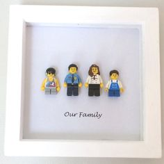 Lego Personalised Family Portrait Frame by Legowithlove on Etsy