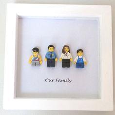 Cadre de Portrait de famille personnalisé LEGO par Framedbylove