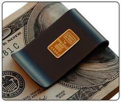 Titanium Money Clip with Gold Ingot by Superior Titanium