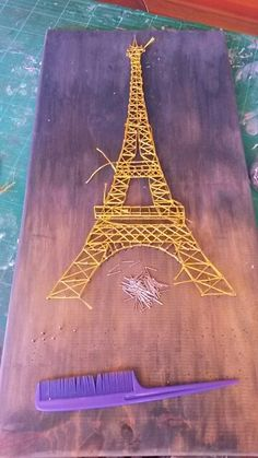 Making a string art eiffel tower for a friend of mine