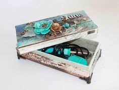 My Craft and Garden Tales: Storage box for the Fuse tool with Prima products