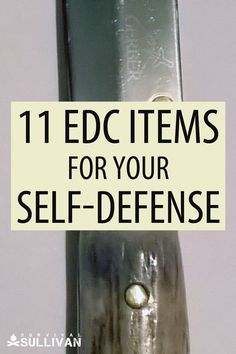 These defensive EDC items will be on your person the whole time, ready to help you should you be attacked. #EDC #everydaycarry Survival Supplies, Emergency Supplies, Survival Tools, Survival Prepping, Emergency Preparedness Kit, Self Defense Weapons, Glass Breaker, Home Defense, Shtf
