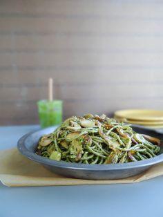Wild Mushroom & Pistachio Pesto Pasta /by sunday morning banana pancakes #vegan #recipe