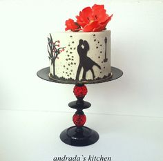 Valentine's Day Cake----love lots of things about this cake but don't understand the two tails.