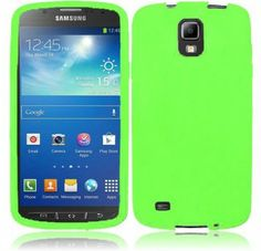 For Samsung Galaxy S 4 Active i537 Silicone Skin Cover - Neon Green