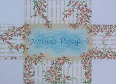 Brick - rose covered picket fence - can be ordered with any name (or without name)