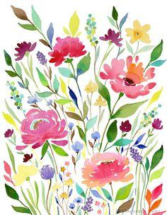 Art Print Let your Garden Grow by stephanieryanart on Etsy