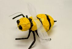 Bumble Bee. Age 8 paper mache bugs step by step instruction Awesome blog with great ideas and lesson plans
