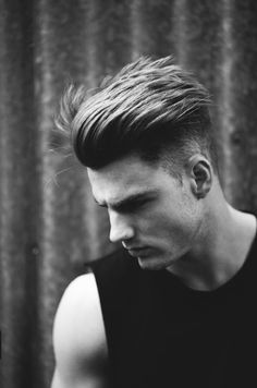 Slicked back top with undercut sides
