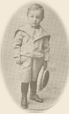 "Charles ""Chun"" Hargitt, 1890 in typical ""dress up"" attire. He donated the Hargitt House to the city of Norwalk. It is now a museum."