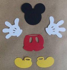 Kit Para 50 Apliques Do Mickey Mouse P/lembrancinhas - R$ 15,00