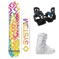 System 2013 Mai Tie Dye Women's Snowboard Package + Theory Bindings + Flow Vega Lace Boots (139cm, Boots size 8 w/bindings) by System. $289.00. Siren 2013 Theory Snowboard Bindings : The features on the 2013 Theory bindings typically only come on bindings at $160.00 or more. This binding offers incredible performance and durability and is among the lightest bindings that we carry.  Flow Vega Lace Women's Snowboard Boots : The Flow Vega Lace is the lightest, wa...