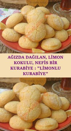 Mis Gibi Limon Kokulu, Uzun Süre Hiç Bayatlamayan Nefis Bir Kurabiye : Limonlu Kurabiye A delicious cookie recipe that you will easily make in a short time, will eat as much as you can, and you cannot get enough of it with the smell of miss . Lemon Desserts, Köstliche Desserts, Health Desserts, Chocolate Desserts, Dessert Recipes, Lemon Cookies, Yummy Cookies, Dessert Bread, Dessert Bars