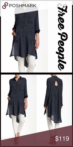 ❤️ FREE PEOPLE TUNIC SHIRT DRESS Hi-Lo Mini **Additional Details & Photos will be added soon** NEW WITH TAGS RETAIL PRICE:   ITEM:   *   *   *   *   *   *    Material:  Color:  Item#:  Shirt dress Sammy Jo # chambray No Trades ✅ Offers Considered*✅ *Please use the blue 'offer' button to submit an offer. Free People Tops Button Down Shirts
