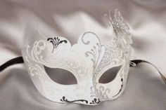 black silver butterfly ball mask