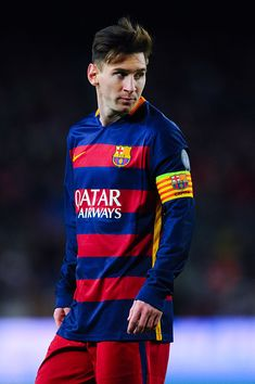 Lionel Messi of FC Barcelona looks on during the UEFA Champions League Group E match between FC Barcelona and AS Roma at Camp Nou stadium on November 2015 in Barcelona, Spain. Get premium, high resolution news photos at Getty Images Fc Barcelona, Lionel Messi Barcelona, Lional Messi, Messi Soccer, Neymar, Messi 2015, David Ramos, Lionel Messi Wallpapers, Argentina National Team