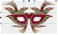 Free Needlepoint Charts for Week 7 Needlepoint New Year's Resolutions: Day 48-Mardi Gras Needlepoint Chart
