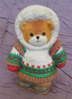 Lucy & Me Figurine - Teddy Bear Eskimo Enesco 1993 Lucy Rigg