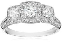 14K White Gold 1.0Cttw Diamond Engagement Ring (H-I Color, I1-I2 Clarity), Size 7