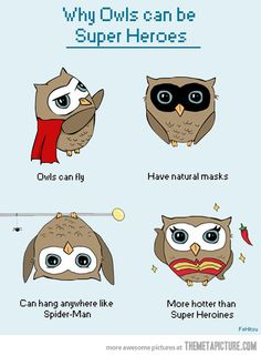 How cute!!! But in Mexico, owls are considered evil & bad luck(as far as I was told) lol!