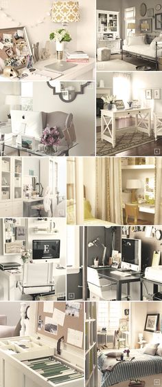Different ways of creating a home office in the bedroom