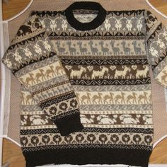 Ravelry: March of Fibres sweater pattern by Elizabeth Lovick