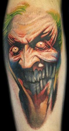Tattoo Artist - Jason Butcher - Joker tattoo