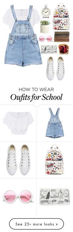 """""""First day of school"""" by hermiona355 on Polyvore featuring Miguelina, Converse, Anya Hindmarch, ZeroUV, Newgate and Allstate Floral"""