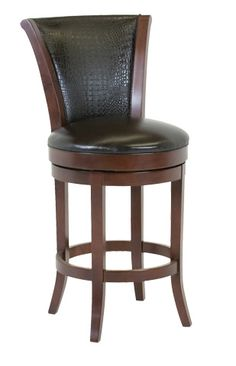 Classic Leather - Parker Upholstered Back Armless Swivel Bar Stool - 7674ASB